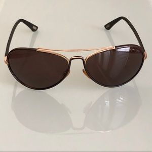 EUC Tom Ford Shelby Leather Wrapped Aviators